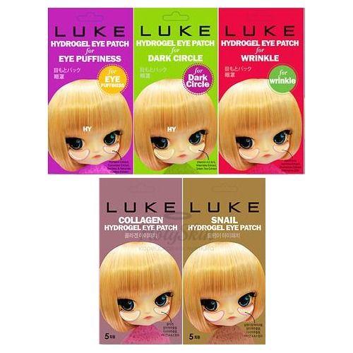 Купить Гидрогелевые патчи для кожи вокруг глаз LUKE, LUKE Hydrogel Eye Patch 5 pairs, Южная Корея