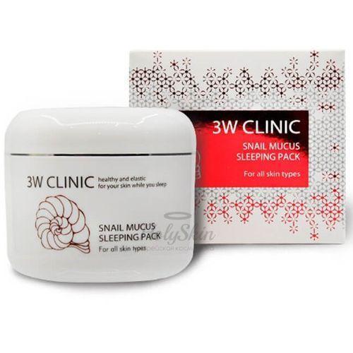 Ночная маска для лица 3W Clinic Snail Mucus Sleeping Pack фото