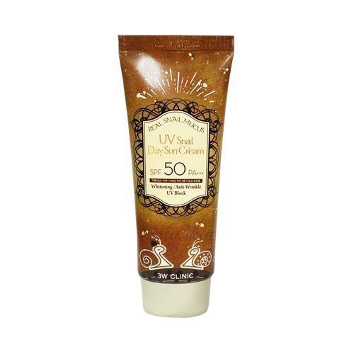 Купить Солнцезащитный крем для лица 3W Clinic, UV Snail Day Sun Cream, Южная Корея
