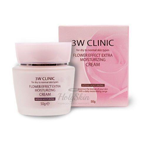 Купить Крем для лица с цветочными экстрактами 3W Clinic, Flower Effect Extra Moisture Cream, Южная Корея