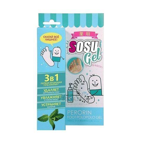 Купить Гель-скатка для ног с ароматом мяты Sosu, Perorin Foot Polopolo Gel Mint, Япония