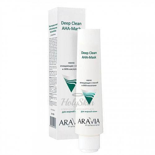 Очищающая маска с глиной и АНА кислотами Aravia Professional — Aravia Professional Deep Clean AHA Mask