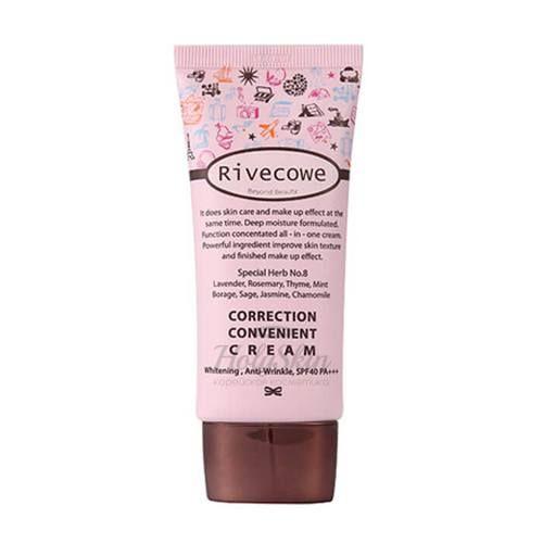 Солнцезащитный тональный крем Rivecowe Correction Convenient Cream фото