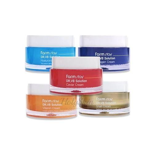 Купить Серия кремов для лица Farmstay, DR.V8 Solution Cream, Южная Корея