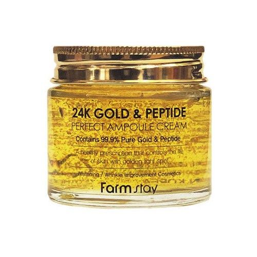 Ампульный крем для лица Farmstay 24K Gold Peptide Perfect Ampoule Cream фото