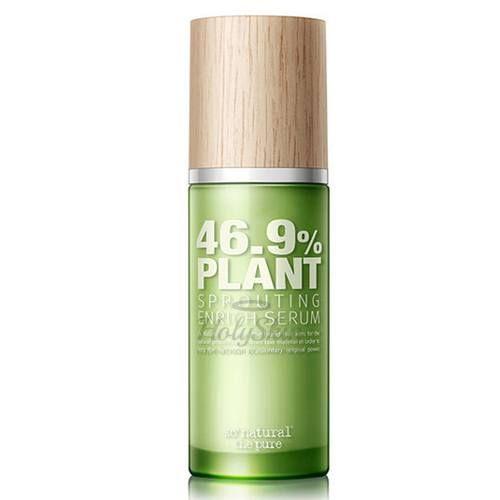 Купить Органическая сыворотка для лица с ростками пшеницы So Natural, Plant Sprouting Enrich Serum 46, 9 %, Южная Корея