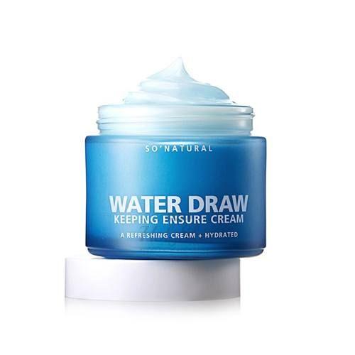 Купить Глубоко-увлажняющий крем на основе ледниковой воды So Natural, High Water Draw Keeping Ensure Cream, Южная Корея