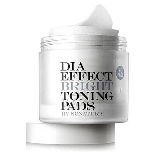 Купить Пилинг-пады для выравнивания тона кожи So Natural, Dia Effect Bright Toning Pads, Южная Корея