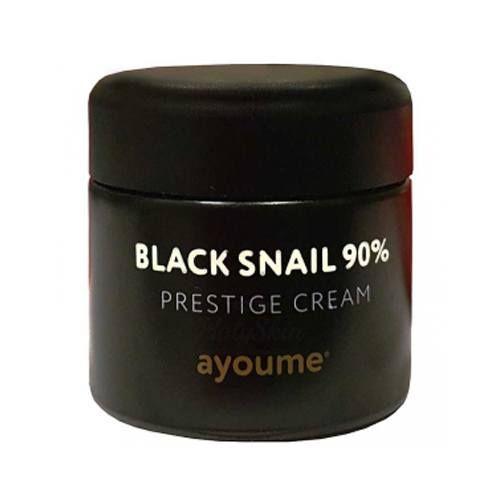 Купить Улиточный крем для лица Ayoume, Black Snail 90% Prestige Cream, Южная Корея