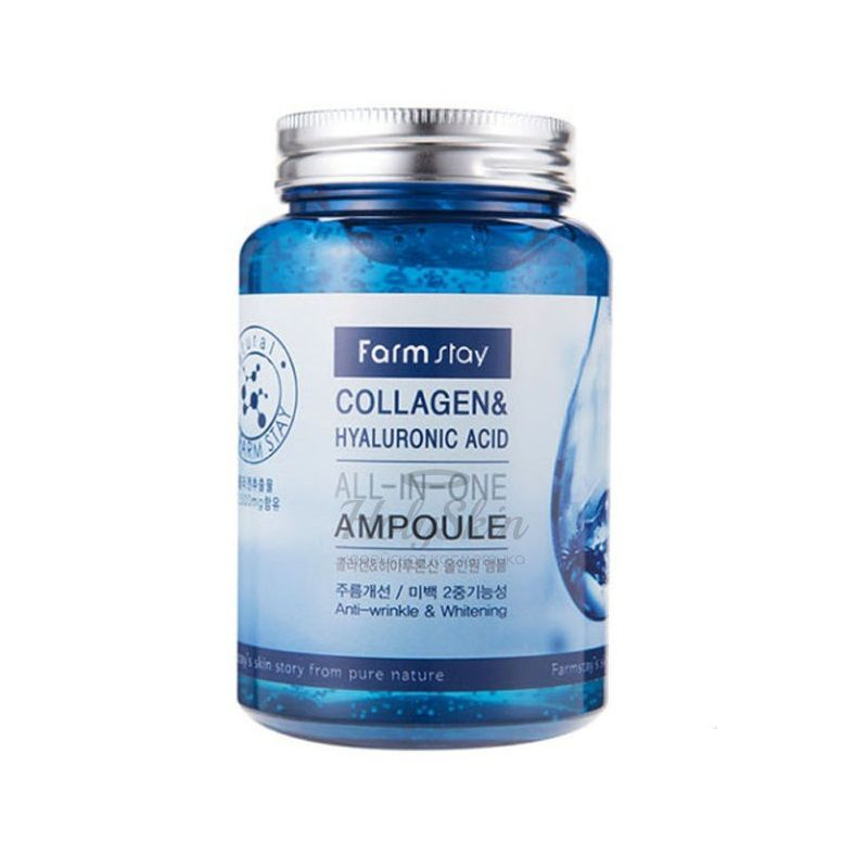 All In One Collagen and Hyaluronic Ampoule Farmstay купить