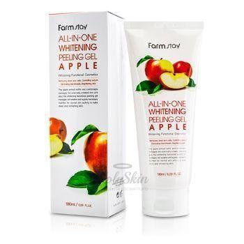 Купить Осветляющий пилинг-скатка с экстрактом яблока и киви Farmstay, All In One Whitening Peeling Gel, Южная Корея