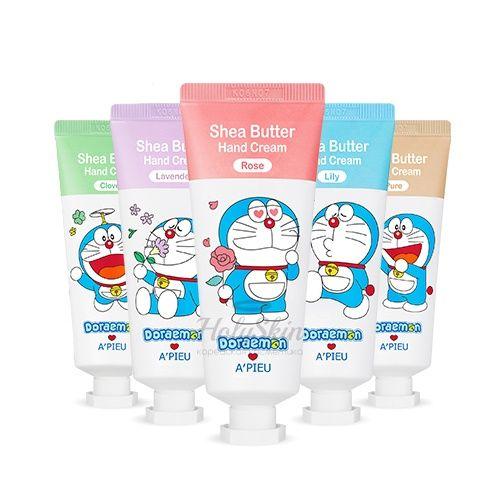 Купить Крем для рук с маслом ши A'Pieu, Doraemon Edition Shea Butter Hand Cream, Южная Корея