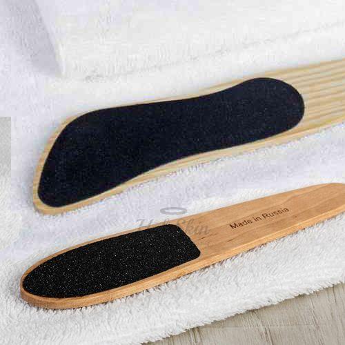Купить Двустороння наждачная терка для ног из светлого дерева HS, HS Тёрка для ног наждачная двусторонняя деревянная, Китай