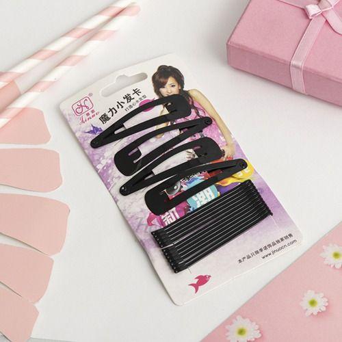 Купить Набор для волос из 4 зажимов и 12 невидимок HS, HS Набор для волос Классика, Китай
