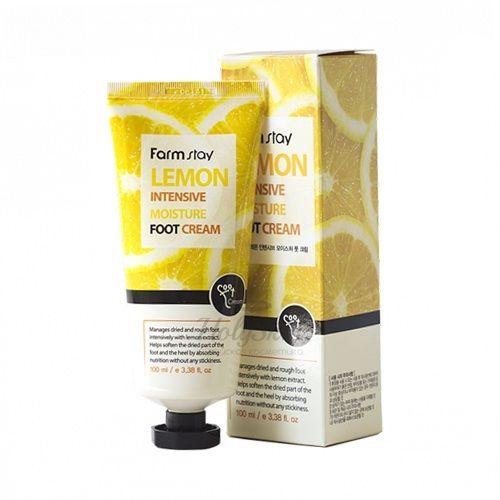 Купить Увлажняющий крем для ног с экстрактом лимона Farmstay, Lemon Intensive Moisture Foot Cream, Южная Корея