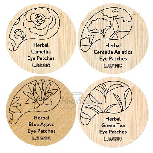 Купить Гидрогелевые патчи для глаз с растительными экстрактами L'Sanic, Herbal Hydrogel Eye Patches, Южная Корея