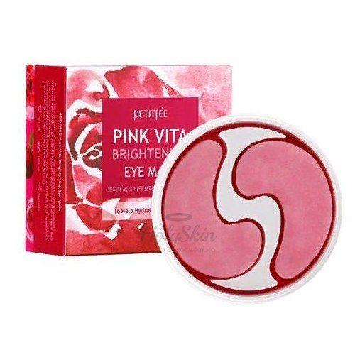 Осветляющие патчи для глаз на основе эссенции розовой воды Petitfee