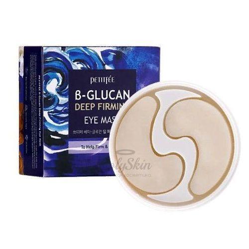 Укрепляющие тканевые патчи для глаз Petitfee B-Glucan Deep Firming Eye Mask фото