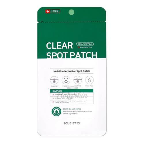 Купить Антибактериальные наклейки против прыщей 10мм*9 шт, 12 мм*9 шт Some By Mi, 30 Days Miracle Clear Spot Patch, Южная Корея