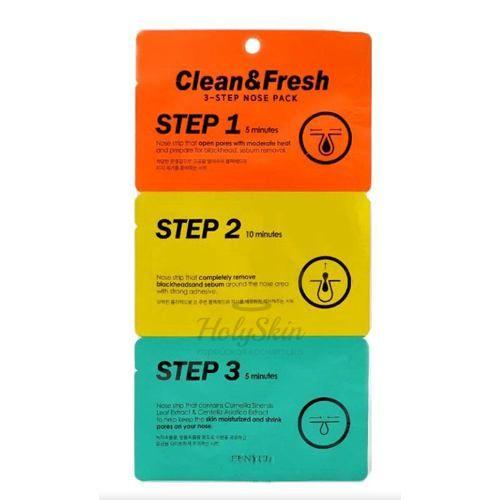 Купить Трехэтапные полоски для носа Eunyul, Clean and Fresh 3-Step Nose Pack, Южная Корея