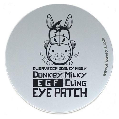 Купить Биоцеллюлозные патчи для глаз Elizavecca, Donkey Milky EGF Cling Eye Patch, Южная Корея