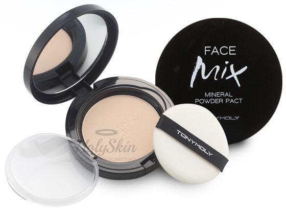 Купить Пудра Tony Moly, Face Mix Mineral Powder Pact, Южная Корея