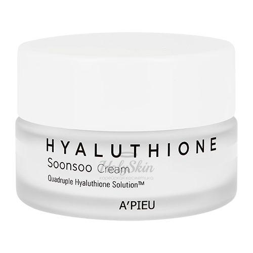 Купить Глубоко увлажняющий крем для лица с глутатионом A'Pieu, Hyaluthione Soonsoo Cream, Южная Корея
