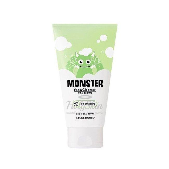 Купить Освежающая пенка для умывания Etude House, Monster Foam Cleanser, Южная Корея
