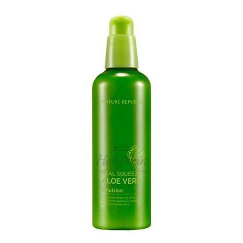 Купить Эмульсия для лица с алоэ вера Nature Republic, Real Squeeze Aloe Vera Emulsion, Южная Корея