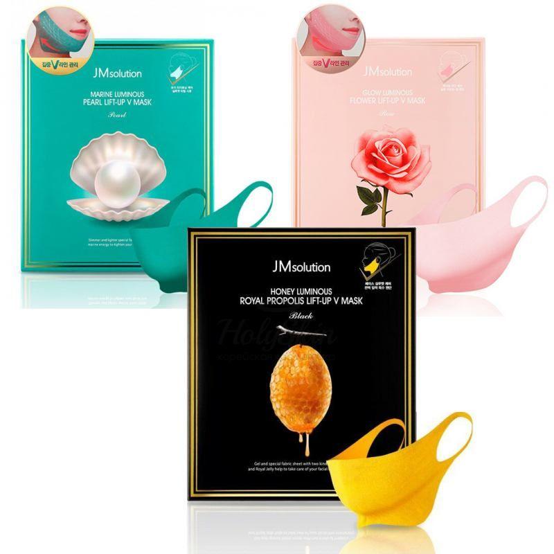 Купить Подтягивающая маска для контура лица JMsolution, Luminous Royal Lift-Up V Mask, Южная Корея