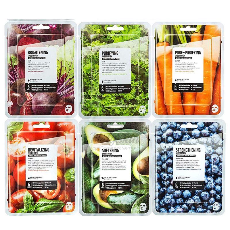 Тканевая маска для лица Superfood Salad for Skin Superfood Salad For Skin Facial Sheet Mask фото