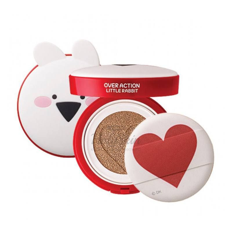 Тональная основа-кушон The Saem — Over Action Little Rabbit Love Me Cushion