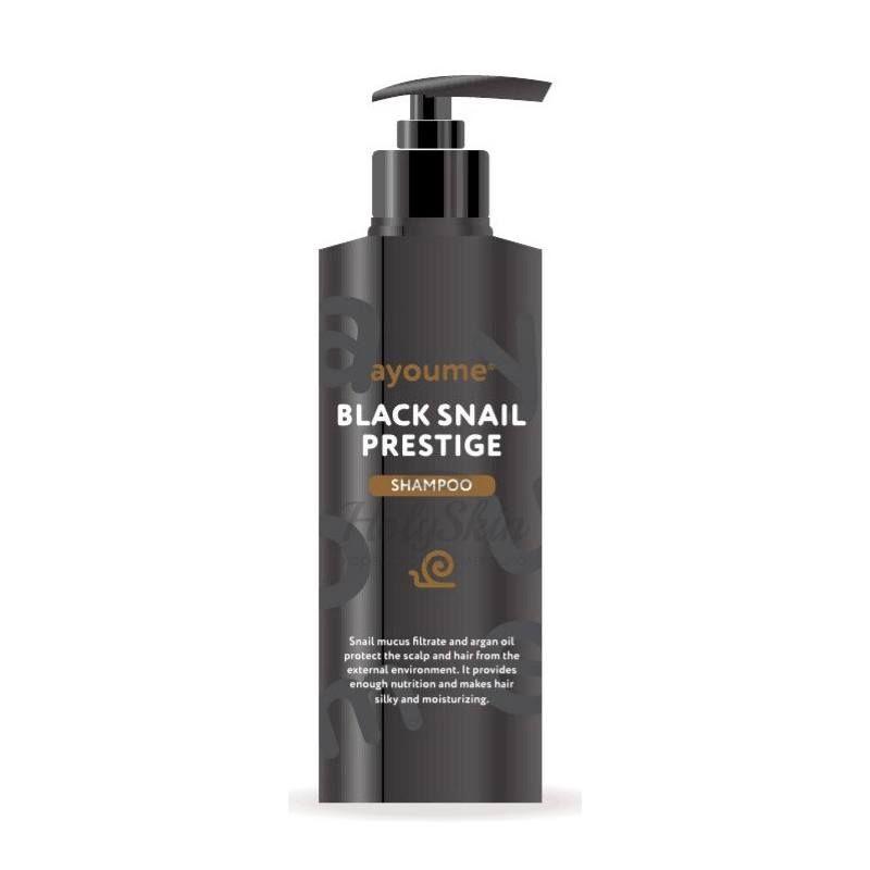 Купить Шампунь для волос с муцином улитки Ayoume, Black Snail Prestige Shampoo, Южная Корея