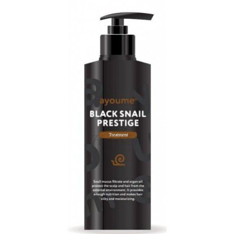 Купить Маска для волос с муцином улитки Ayoume, Black Snail Prestige Treatment, Южная Корея
