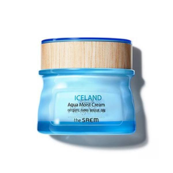 Купить Увлажняющий крем для лица с минеральной водой The Saem, Iceland Aqua Moist Cream, Южная Корея