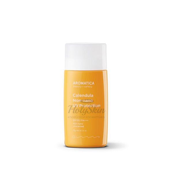Купить Успокаивающий солнцезащитный крем для лица AROMATICA, Calendula Non-Nano UV Protection Unscented, Южная Корея