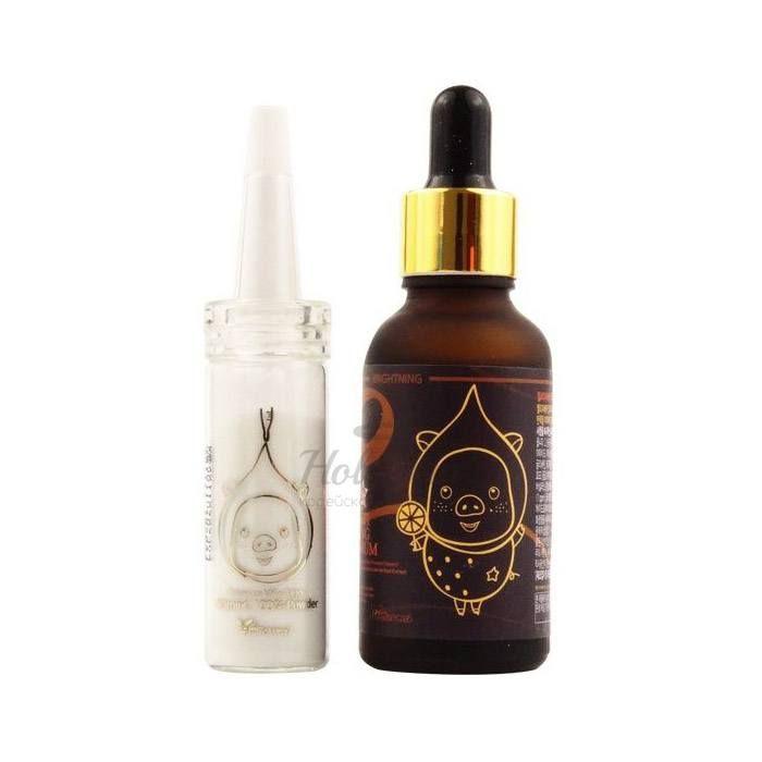 Купить Набор для осветления кожи лица Elizavecca, Vitamin C 100% Powder and Vita Multi Whitening Souce Serum, Южная Корея