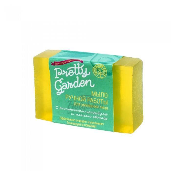 Мыло ручной работы для очищения кожи Pretty Garden Pretty Garden Формованное мыло ручной работы для умывания лица фото