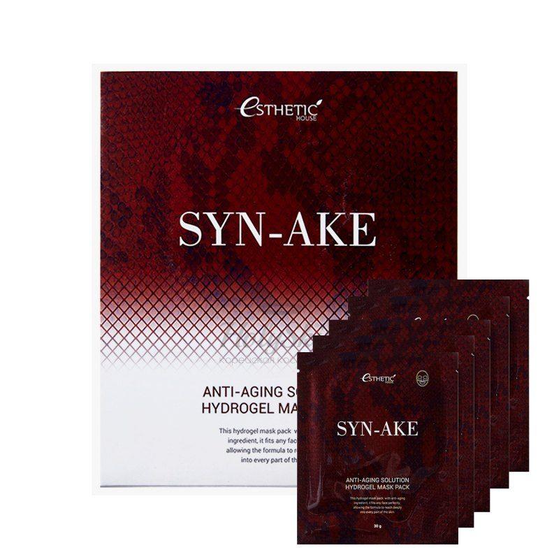 Купить Гидрогелевая антивозрастная маска с ботокс-эффектом Syn-Ake Anti-Aging Solution Hydrogel Mask Pack, Южная Корея