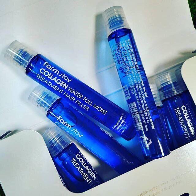 Картинки по запросу FARM STAY] Collagen Water Full Moist Treatment Hair Filler