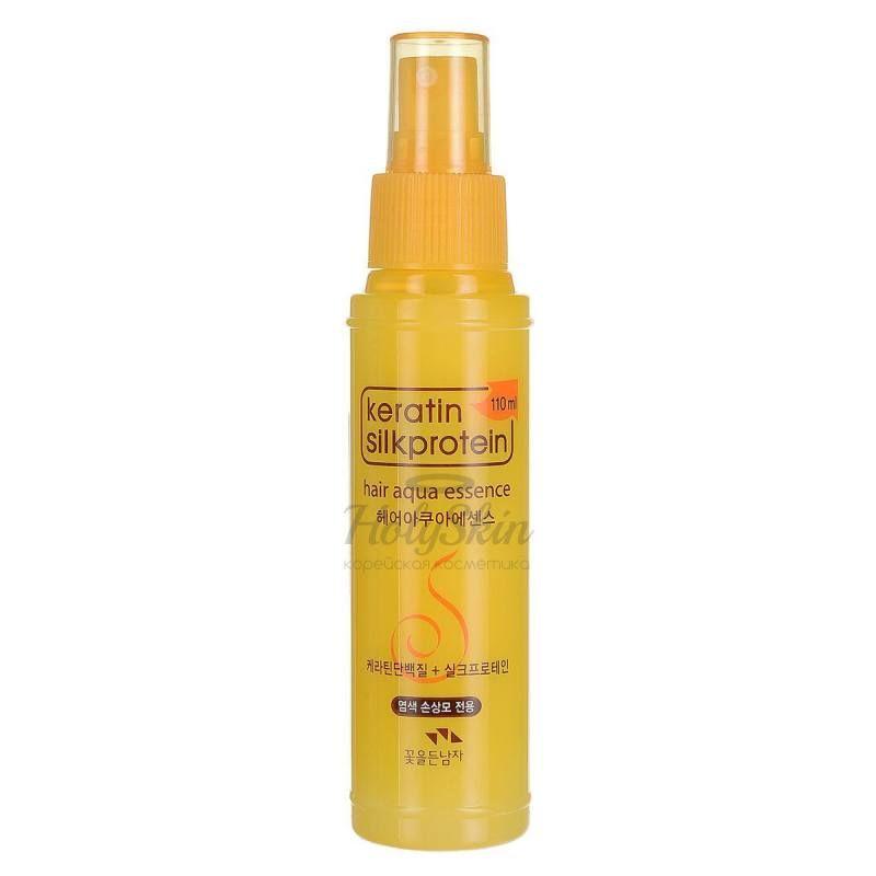 Увлажняющая эссенция для волос с кератином Flor de Man Keratin Silkprotein Hair Aqua Essence фото