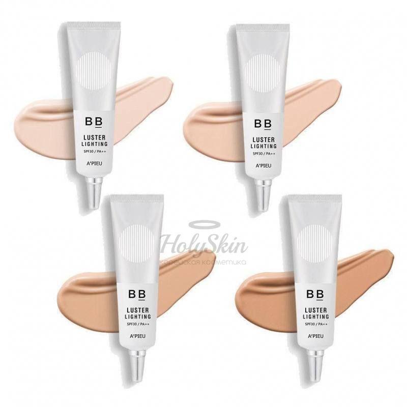 Купить BB крем с эффектом сияния A'Pieu, Luster Lighting BB Cream, Южная Корея