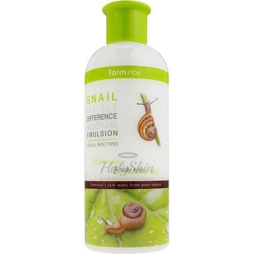 Купить Увлажняющая эмульсия для лица Farmstay, Visible Difference Moisture Snail Emulsion, Южная Корея