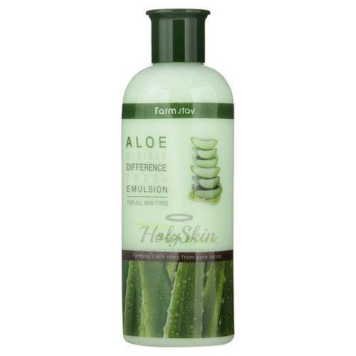 Купить Освежающая эмульсия для лица Farmstay, Aloe Visible Difference Fresh Emulsion, Южная Корея