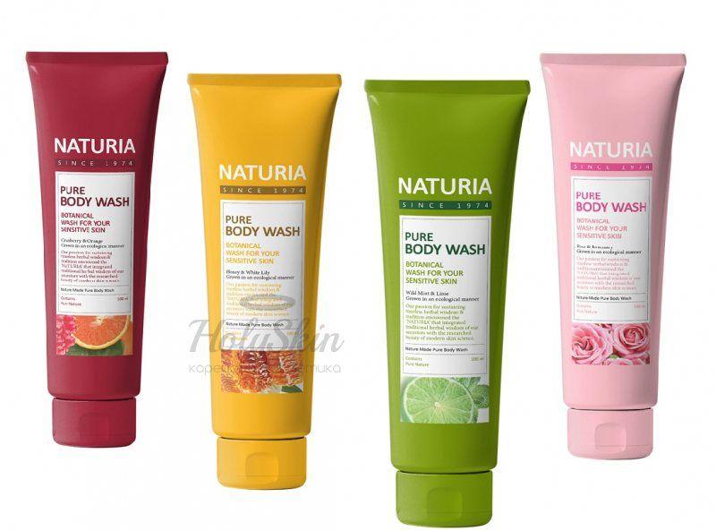 Купить Гель для душа Evas, Naturia Pure Body Wash 100 мл, Южная Корея