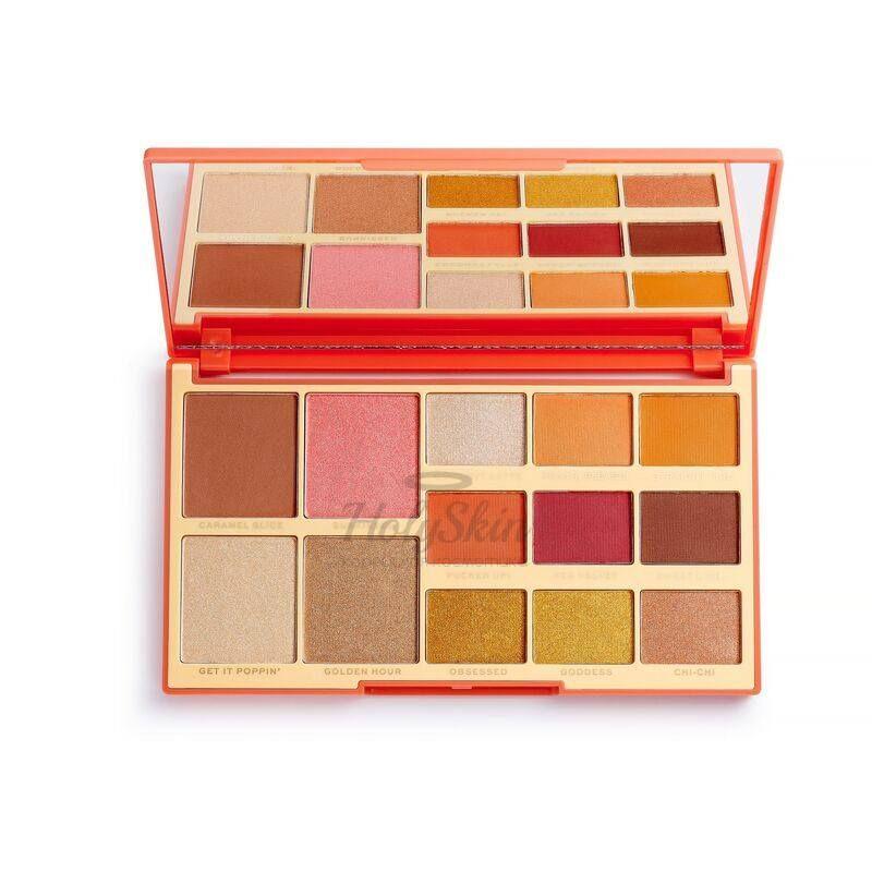 Купить Палитра для макияжа из теней, румян, хайлайтера и бронзера MakeUp Revolution, X Rachel Leary Goddess-On-The-Go Face And Shadow Palette, Великобритания