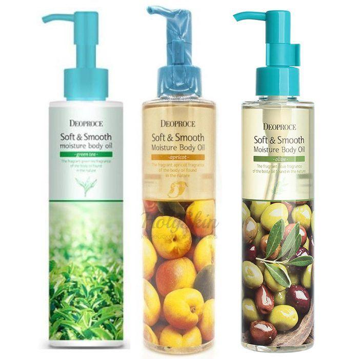 Купить Смягчающее увлажняющее масло для тела Deoproce, Soft and Smooth Moisture Body Oil, Южная Корея