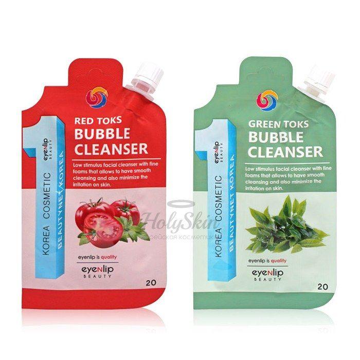 Купить Пузырьковая пенка для умывания Eyenlip, Toks Bubble Cleanser, Южная Корея