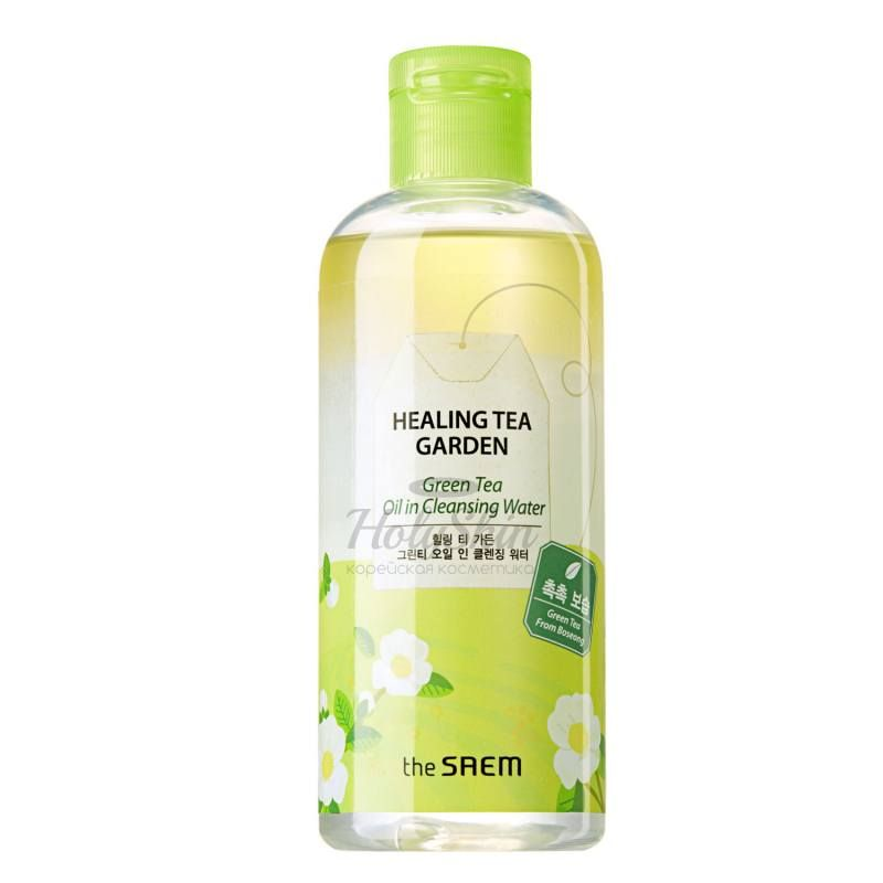Купить Освежающая очищающая вода The Saem, Healing Tea Garden Green Tea Oil In Cleansing Water, Южная Корея
