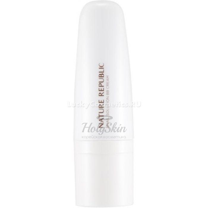 Купить ВВ крем с экстрактом муцина улитки Nature Republic, Snail Solution ВВ Cream, Южная Корея